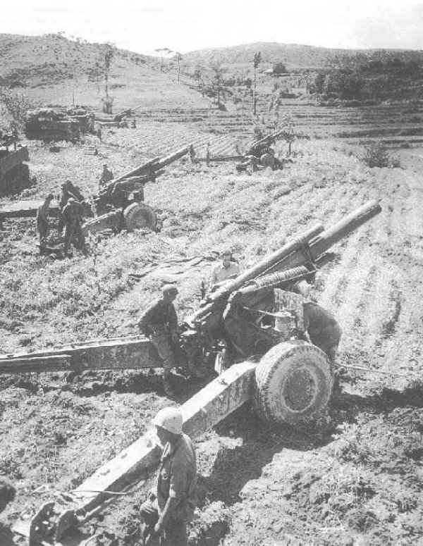 155mm Howitzers in Battery