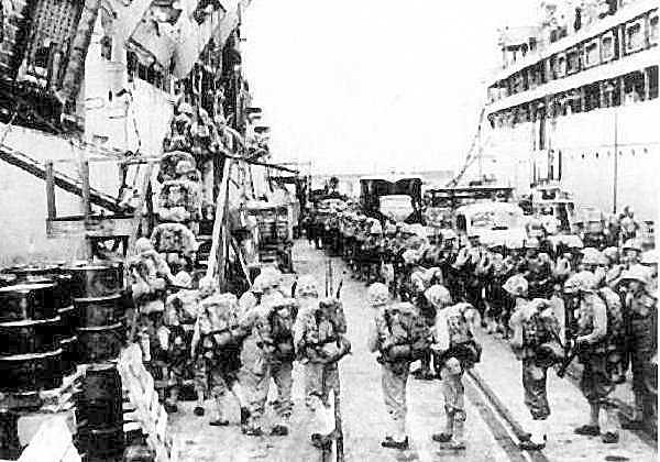 5th Marines mount out for Korean War