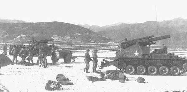 3rd Div arty support for Marine withdrawal from Chosin