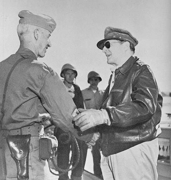 MacArthur and General O.P. Smith