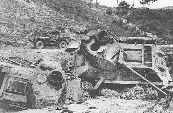 Bombed out T34