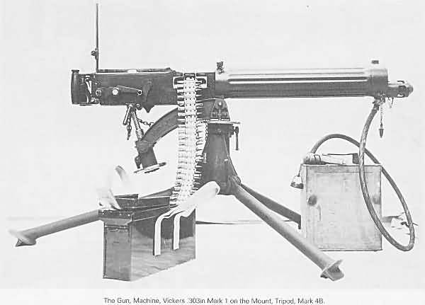 vickers water cooled machine gun