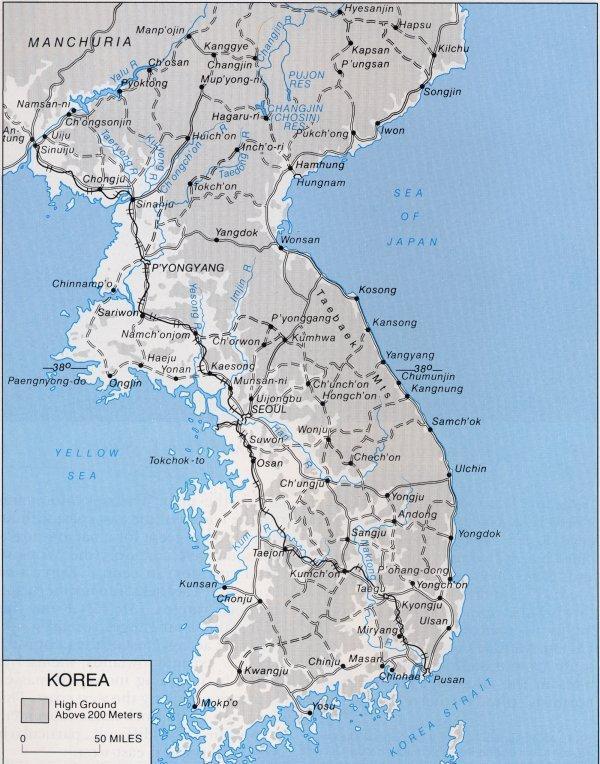 Map Of Korea - Map of korea