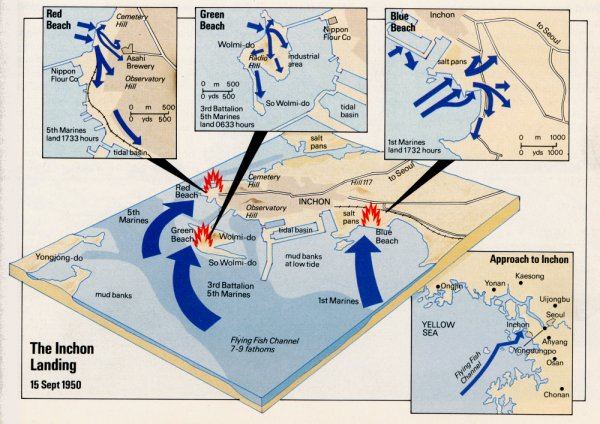 Inchon Invasion Beaches Map