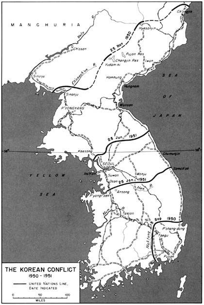 Map 45: The Korean Conflict 1950-1951
